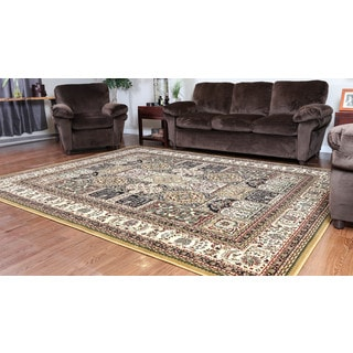 Oh! Home Persian Treasures Bakhtiari Oriental Polypropylene Rectangular Area Rug (8' x 10')
