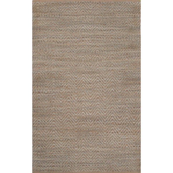 Handmade Casual Candied Ginger/Frosty Green Jute/Viscose (2x3.6) Area Rug