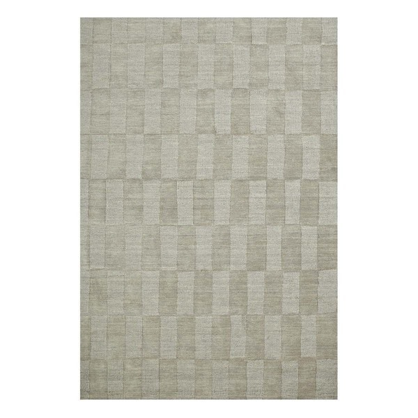 Handmade Casual Ashwood/Ashwood Wool (5x8) Area Rug