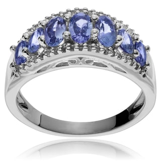 Journee Collection Sterling Silver Tanzanite Topaz Ring