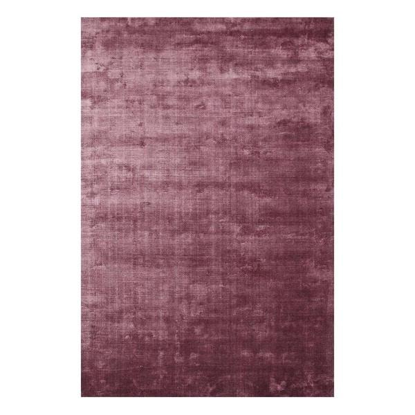Handmade Novelty Dark Purple/Dark Purple Viscose (5x8) Area Rug