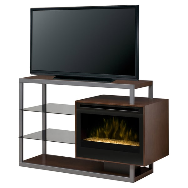 Hadley Reversable or Double sided Media Electric Fireplace with