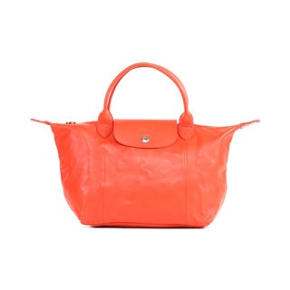 Longchamp Poppy Le Pliage Cuir Small Handbag