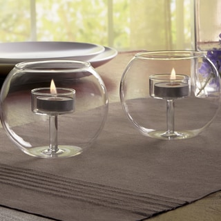 Order Home Collection 2-Piece Glass Tealight Holders
