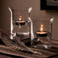 Order Home Collection 2-Piece Hammered Glass Tealight Holders