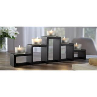 Order Home Collection 5-Piece Tiered Wood Votive Holder