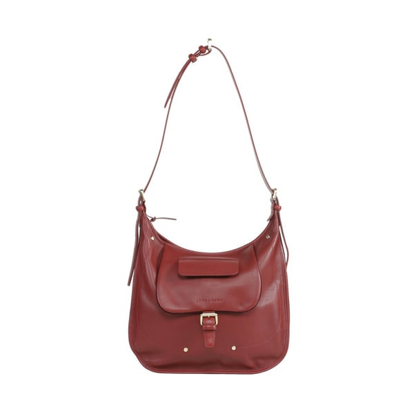 Longchamp Mahogany Balzane Cross Body Hobo