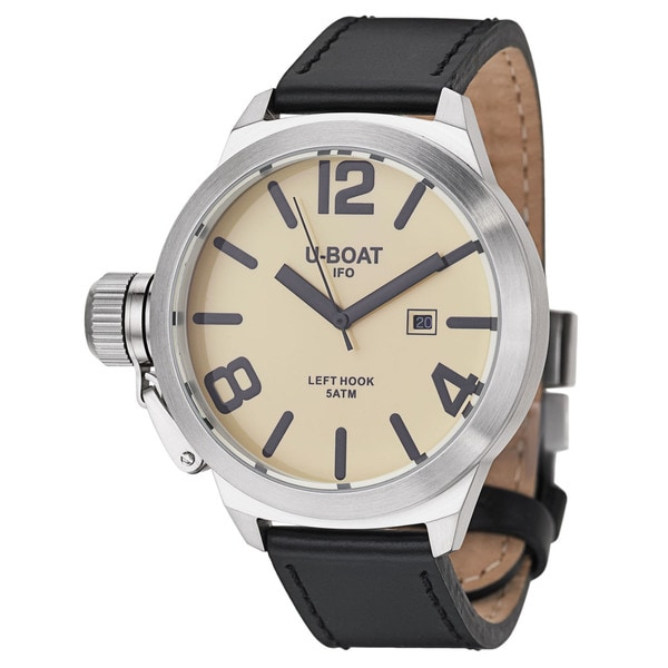 U-Boat Men's 'Left Hook' Stainless Steel Quartz Watch