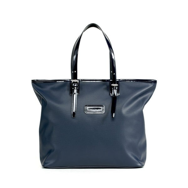 Longchamp Navy Derby Medium Shoulder Tote