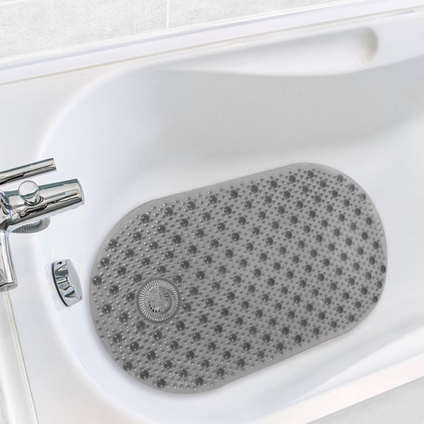 Antimicrobial Hair Catcher Bath Tub Mat 15863962