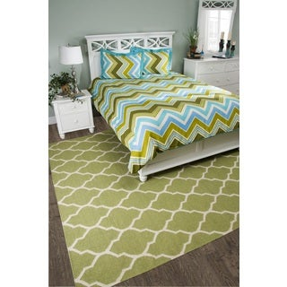 Rizzy Home Hippie Chic Chevron Teal 3-piece Comforter Set