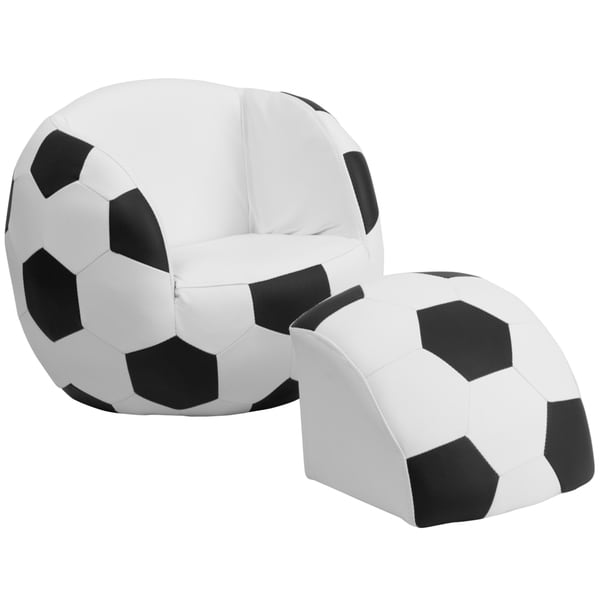 Kids Plastic Sport Chair and Footstool
