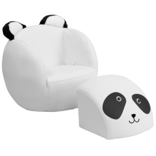 Kids Plastic Animal Chair and Footstool