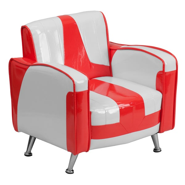 Kids Plastic Red and White Chair