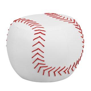 Red White Kids Plastic Baseball Stool
