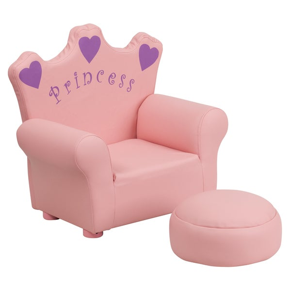 Kids Plastic Pink Princess Chair