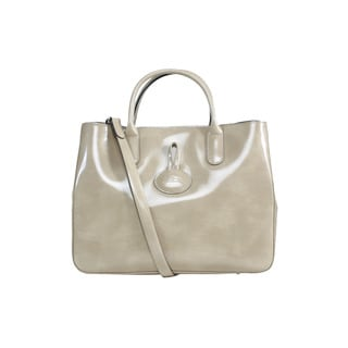 Longchamp Nude Roseau Box Medium Tote with Strap