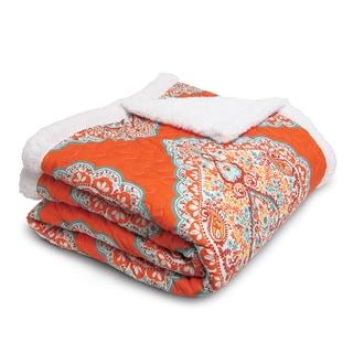 Lush Decor Harley Throw Blanket Orange