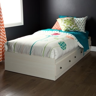 South Shore Country Poetry Twin Mates Bed with 3 Drawers