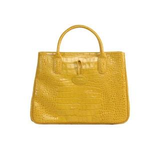 Longchamp Sunshine Roseau Croco EW Handbag Shopper