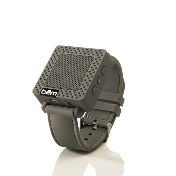 BEM Wireless BEMSWGY Bluetooth Speaker Watch- Grey