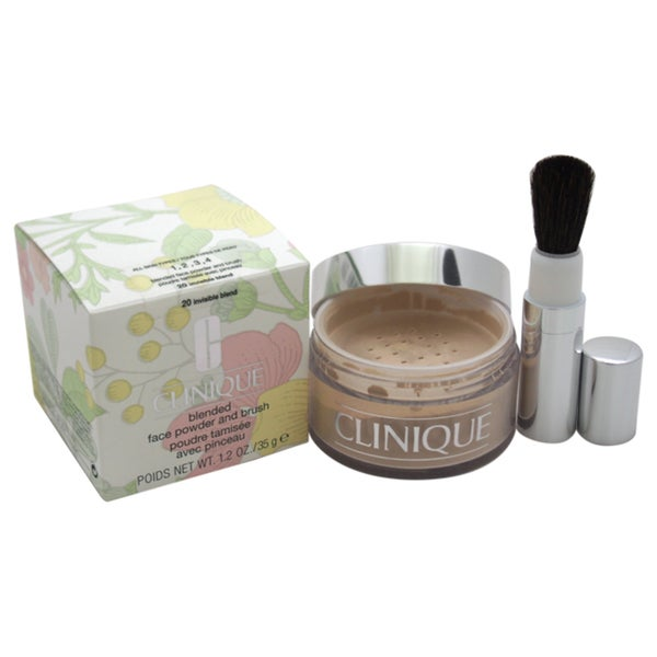 Clinique Blended Face Powder and Brush # 20 Invisible Blend