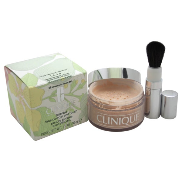Clinique Blended Face Powder and Brush # 08 Transparency Neutral