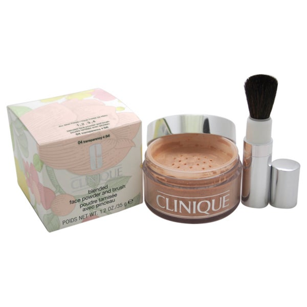 Clinique Blended Face Powder and Brush # 04 Transparency 4