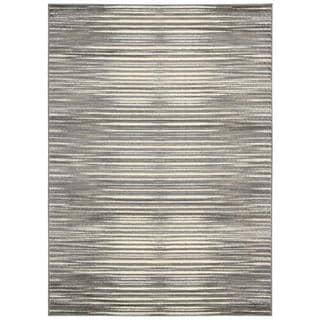 Nourison Studio Ivory Grey Rug (7'10 x 10'6)