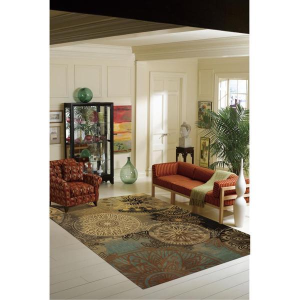 Nourison Contour Multicolor Rug (7'3 x 9'3) 15864458