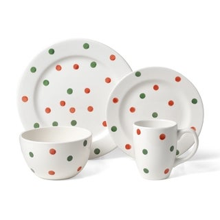 Pfaltzgraff Holiday Dots 16-piece Dinnerware Set