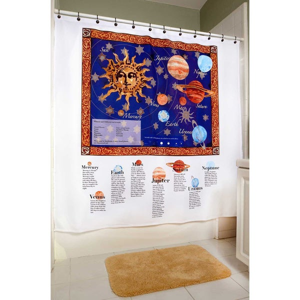 ShowerSmarts  Out of this World - The Solar System Shower Curtain 15864526