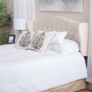Christopher Knight Home Alford Adjustable Beige Fabric Headboard