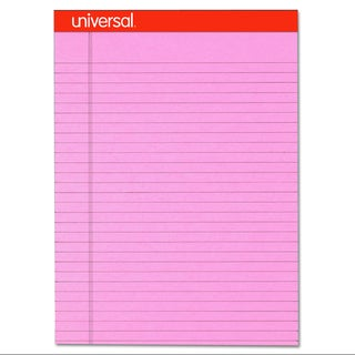 Universal Fashion-Colored Perforated Pink Note Pads (Pack of 6 Pads)
