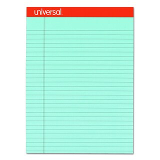 Universal Fashion-Colored Perforated Blue Note Pads (Pack of 6 Pads)