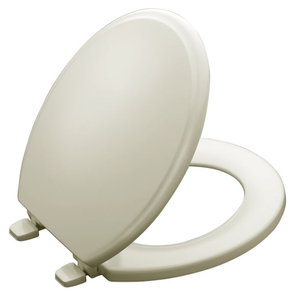 Ridgewood Closed Front Toilet Seat in Biscuit