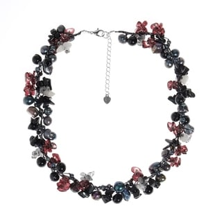Nature's Twist Mix Natural Stones Handmade Necklace (Thailand)