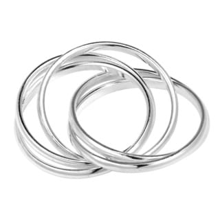 Interconnected Puzzle 5 Band .925 Sterling Silver Ring (Thailand)