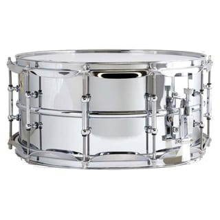 Ludwig LM402 Smooth Chrome-plated Aluminum Snare Drum