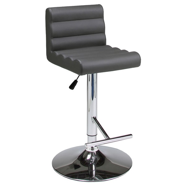 Hizzoner Hydraulic Grey Adjustable Barstool