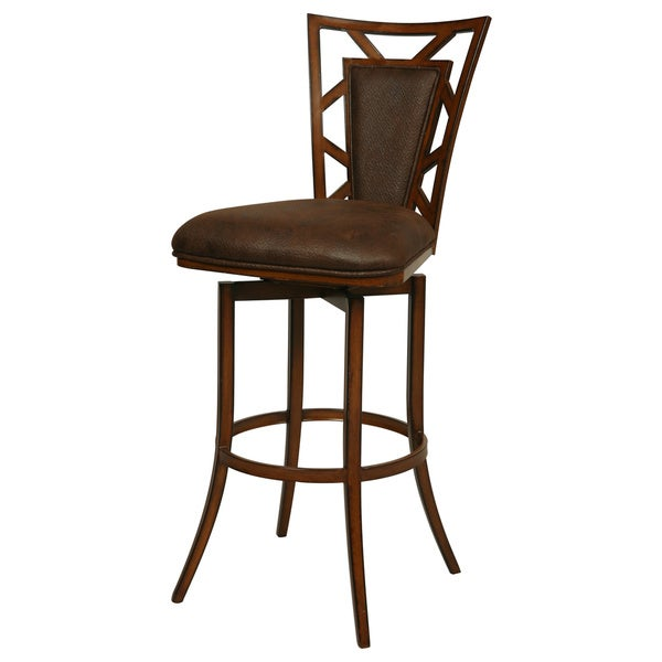 Norland Swivel Brown Barstool