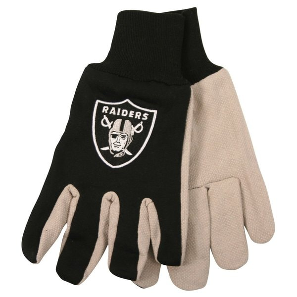 Oakland Raiders NFL Utility Gloves (Pair) Football Team Logo Work Grip OAK