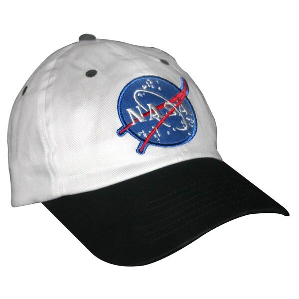 NASA Black And White Child Hat Astronaut Pilot Baseball Cap Flight Costume