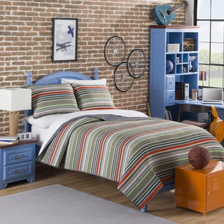Oliver Striped 3-piece Quilt Set