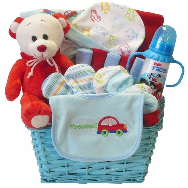 Go Go Baby Boy Teddy Bear Gift Basket