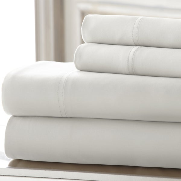 Silky Smooth 100-Percent Tencel Queen Sheet Set in White (As Is Item)