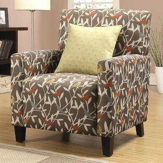 Casual Artistic Multi-Color Bird Design Living Room Accent Chair