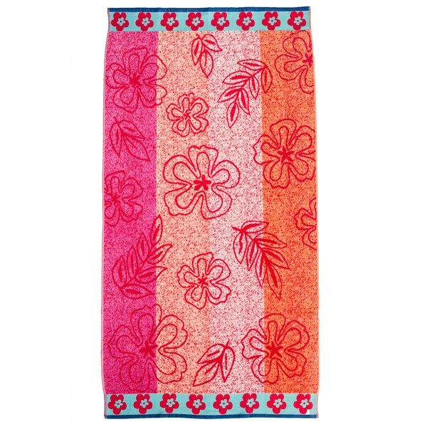 Hibiscus Velour Jacquard Towel (Pack of 3)