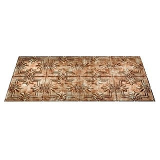 Fasade Regalia Bermuda Bronze 2-foot x 4-foot Glue-up Ceiling Tile