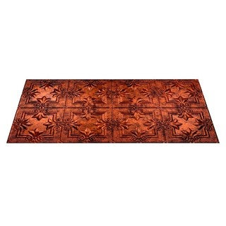Fasade Regalia Moonstone Copper 2-ft x 4-ft Glue-up Ceiling Tile